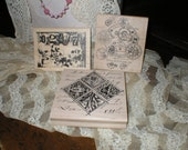 Fun Lot of Art Rubber Stamps Steampunk, Gearhead, Tim Holtz, Stampers Anonymous, French Art & Words All New Unused