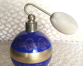 West German Perfume Bottle Atomizer, Vanity Boudoir
