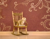 Woodland diorama rabbit art print, warm tone - A Room of Rabbit's Own