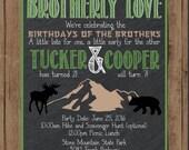 Tucker and Cooper Birthday Invite
