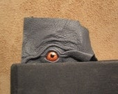 Grichels leather bookmark - dark gray with copper star eye