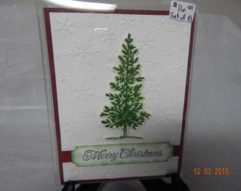 8 Handmade Christmas Tree Cards