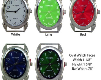 Oval Solid Bar Watch Faces for Interchangeable Bracelet Watch