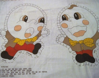 Humpty Dumpty Sewing Panel, DIY Humpty Dumpty Pillow / Doll
