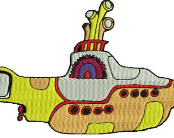 Yellow Submarine embroidery