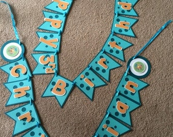 Bubble guppies themes birthday banner
