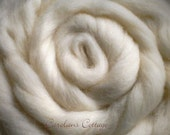 1/2LB Half Pound White Falkland Island Wool Roving Top for Fiber Crafts Spinning Felting Dyeing Doll Making