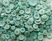 25 Buttons - Teal Aqua Turquoise, Assorted , Sewing Crafting Jewelry Collect (226)