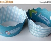 CLOSEOUT SALE Airplane All Boy Cupcake wrappers SET of 12