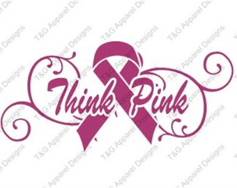 Breast Cancer Awareness Ribbon T-Shirt - Think Pink - Limited Quantity - Sizes XS-4XL