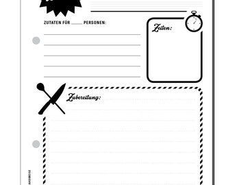 recepies note pad