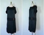 1920s midnight in paris project dress // black silk flapper dress