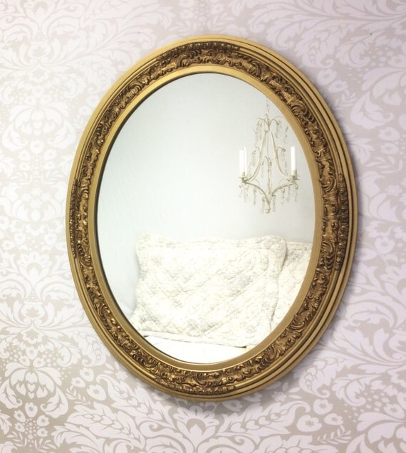 Decorative vintage mirror for sale large oval gold mirror for Fancy oval mirror