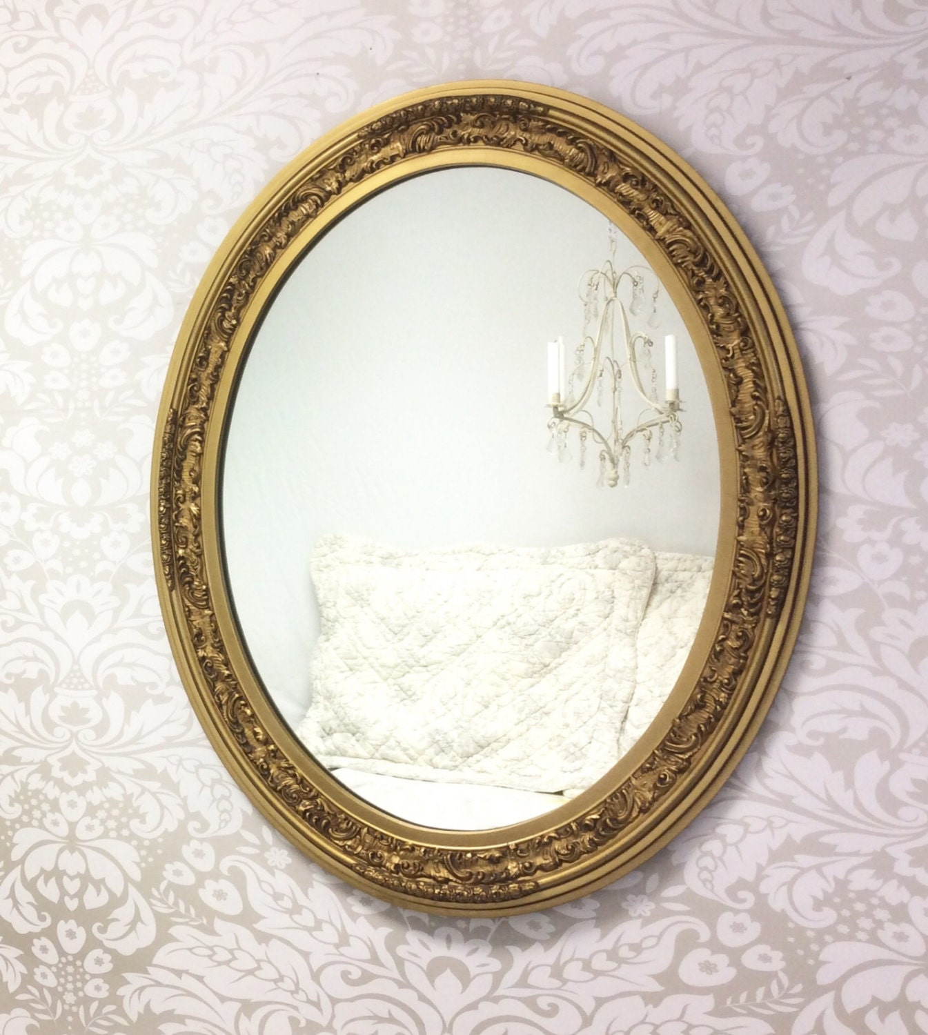 Decorative Vintage Mirror For Sale Large Oval Gold Mirror: large wooden mirrors for sale