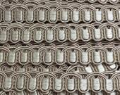 Dove Scalloped Gimp Braid - Scroll Gimp - 5/8 inch Dove Flat Trim - Putty Beige Decorative Trim - 3 Yard Dove Trim Braid - C88