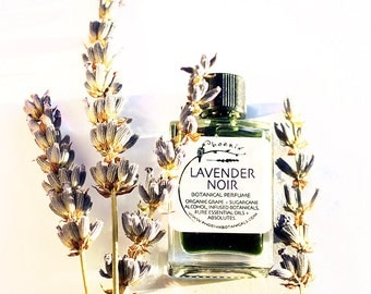 Lavender Noir - crushed lavender, flower incense, mushrooms, earth and smoke - botanical perfume - 5 ml