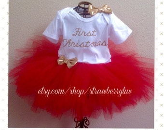 First Christmas, First Christmas Tutu Outfit, First Christmas dress, Christmas Cutie, Second Christmas, Third Christmas