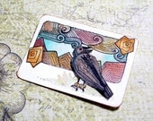 ACEO Original Watercolor Art - Crow Hop