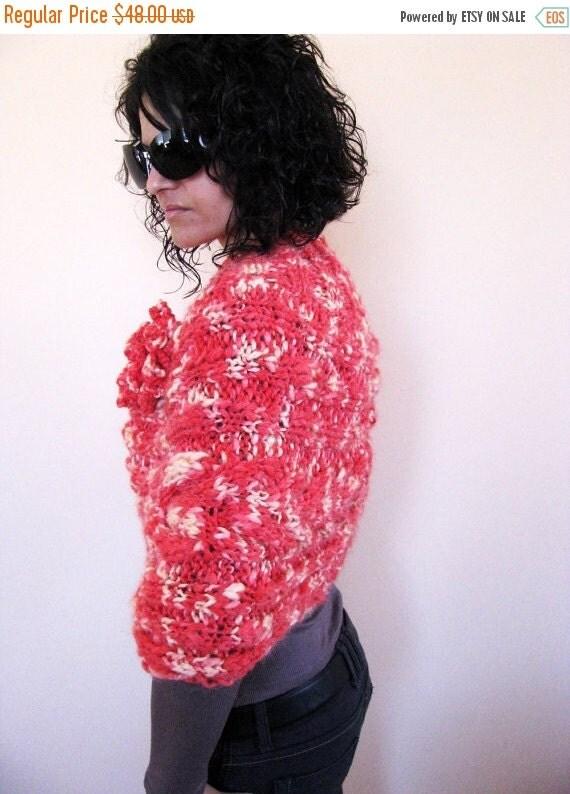 CLEARANCE SALE Knit Poncho / Women Hand Knit Wrap