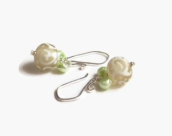 Ball Dangle Earrings, Handmade Bead Earrings, Chic Style, Simple Life, Swirl Earrings, Shabby Chic Earrings, Dangle Drop Earrings, Soft