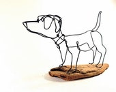 Dachshund Dog Wire Sculpture, Folk Wire Art, Dog Sculpture, 258395611