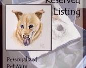RESERVED Personalized Pet Mini,Original Hand Painted, Decorative Portrait Ornament; Gracie