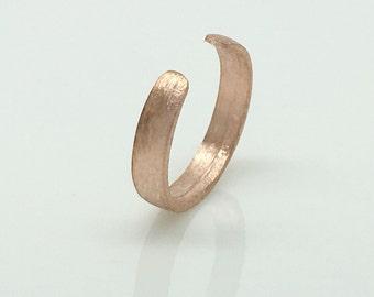 Rose gold ear cuff, men's non pierced ear cuff, non piercing, cartilage earring, simple ear cuff, men's hoop earring, 104 rose