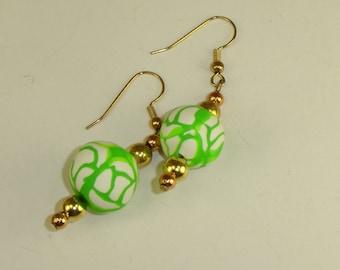 I Love Summer Colors Earrings Lime Green