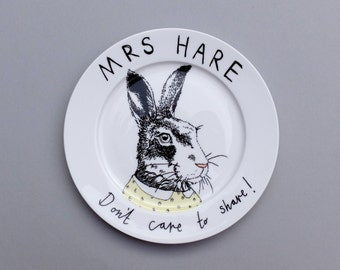 Mrs Hare side plate