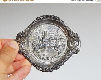 SALE 20% french ashtray Lourdes souvenir