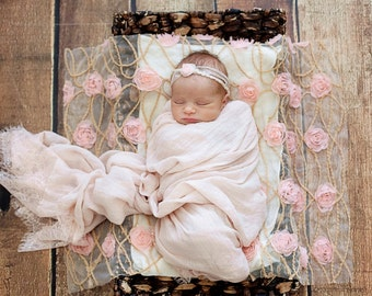Package, Baby Wrap, Layering and Headband Set, Baby Lace Wrap, Baby  Headband, Blush Peach Wrap, Baby Props, newborn Props, RTS, Vintage RTS