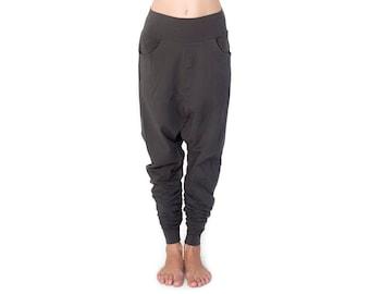 Charcoal Low Crotch Pants - Low Crotch Pants - Baggy Pants - Drop Crotch Pants - Pants