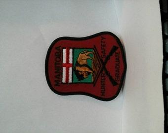 Manitoba Hunter Safety Graduate insignia  patch Gun Rifle Canadian Sportsman Firearm training hunting Rifleman Shotgun Canada Marksman