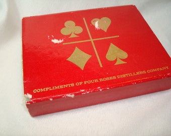 Four Roses Distillers Company Vintage Playing Cards.