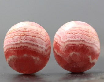 SALE Pink Rhodochrosite Natural Gem Cabochon Stone Wire Wrapping Healing Stone Emotional Aid Joy and Love Jewelry Lesson, Tutorial (11793)