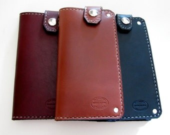 Mens Wallet Whiskey Brown Top Snap Large Wallet Mens Leather Wallet with Chain Mens Fashion Best Selling Wallet Mens Billfold Monogrammed