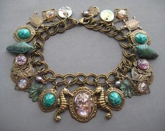 Ocean Bracelet - Nautical Bracelet - Beach Jewelry - Ocean Jewelry - Beach Bracelet - Nautical Jewelry - Sea Jewelry - Seahorse Jewelry