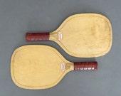 Vintage Pair of Slazenger Padder Bats from England - Tennis Racket - Wooden Paddle Bat - Vintage Ball Game