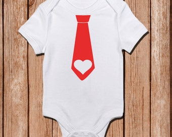 Heart Tie Onesie,  Valentines Onesie, Valentines Shirt, Customizable Colors Bringing home baby.Coming home outfit, Baby shower gift