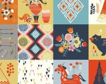 Organic Cotton Fabric - Birch Wildland Poplin - Wildland Patch