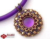 Tutorial Heva Pendant - Beading Tutorial, Beading Pattern, Jewelry Tutorial, Ellad2