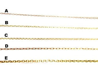 Dainty Warm Brass Chain for Customized Necklace, Choker, Bracelet, Anklet Jewelry