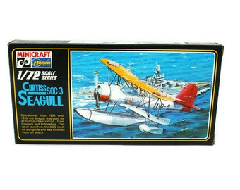 Vintage Model Airplane Kit / Curtiss Seagull  / New Old Stock (c.1960's) Rare