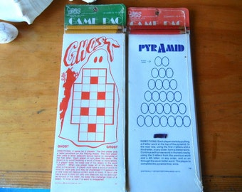 Sealed in the package word games by Whitehall vintage 1973 Pyramid Ghost NOS unused unopened travel games childrens word games