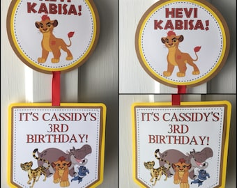 The Lion Guard Party Door Sign