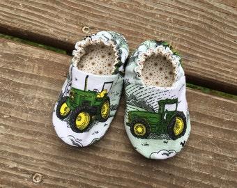 John Deere Soft Baby Shoe, Size 3-6 Months