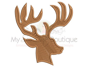 Deer Head Embroidery Design - 8 Sizes - Instant Download