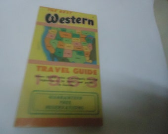 Vintage 1963 The Best Western Travel Guide, Coast To Coast, Highway Index, collectable