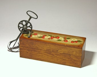 Vintage Wood Index Card or Recipe Box, Two Sided Recipe Box - circa 1940's
