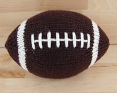 Medium Hand-Knit Football- with stripes